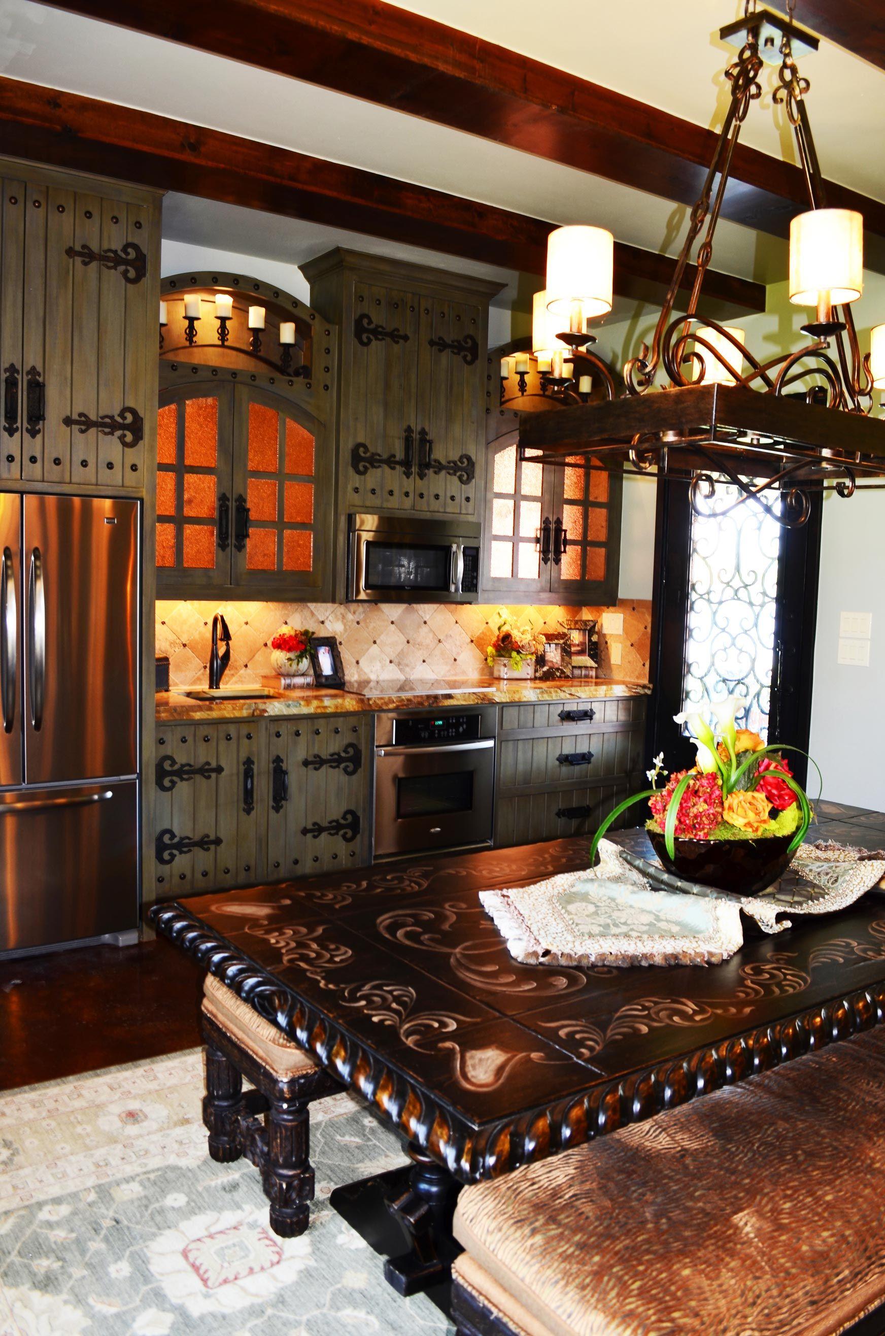 Old World Style Kitchen I Love The Hardware Italian Kitchen