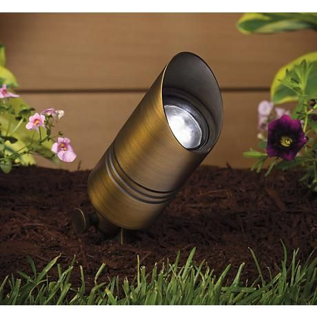 Install This Cast Brass Accent Light With The Included Ground Stake And Show Off Interestin Landscape Lighting Outdoor Path Lighting Kichler Landscape Lighting