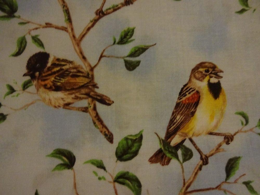 "Precious ""SPRINGTIME BIRDS"" Handmade Cotton Pillowcase Standard/Queen #Handmade #SpringNature"