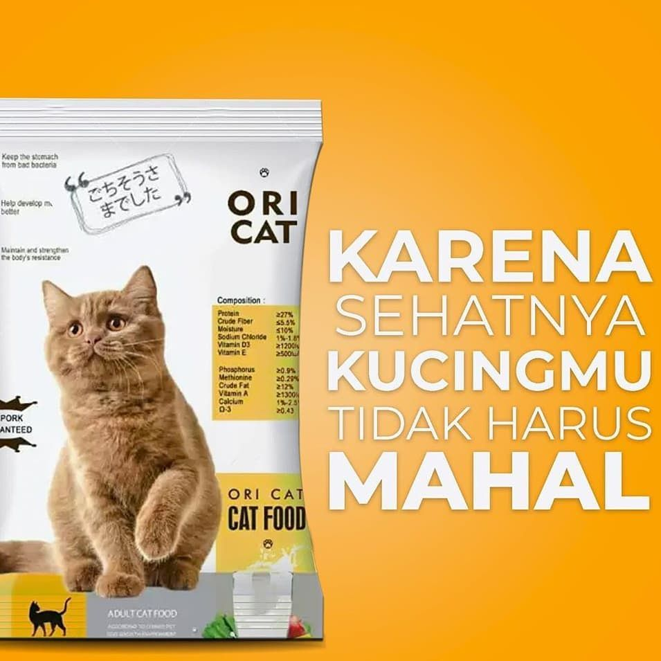 Ori Cat Food Makanan Kucing Berkualitas Dengan Harga Yang Pas Di Kantong Tersedia Dalam 2 Varian Bentuk Kibble Ikan Dan Bulat Ya Ka Cat Food Cats Food
