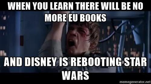 Luke Skywalker Nooooooo When You Learn There Will Be No More Eu Books And Disney Is Rebooting Star Wars Star Wars Canon Star Wars Luke Skywalker Star Wars