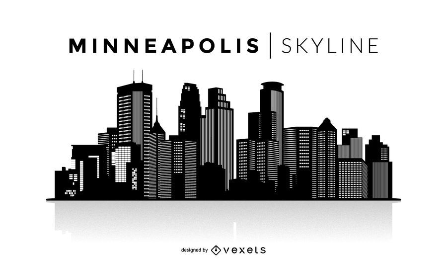 Minneapolis Skyline Silhouette Design You Can See The Most Important Buildings It 39 S Isolated And Skyline Silhouette Minneapolis Skyline Silhouette Design