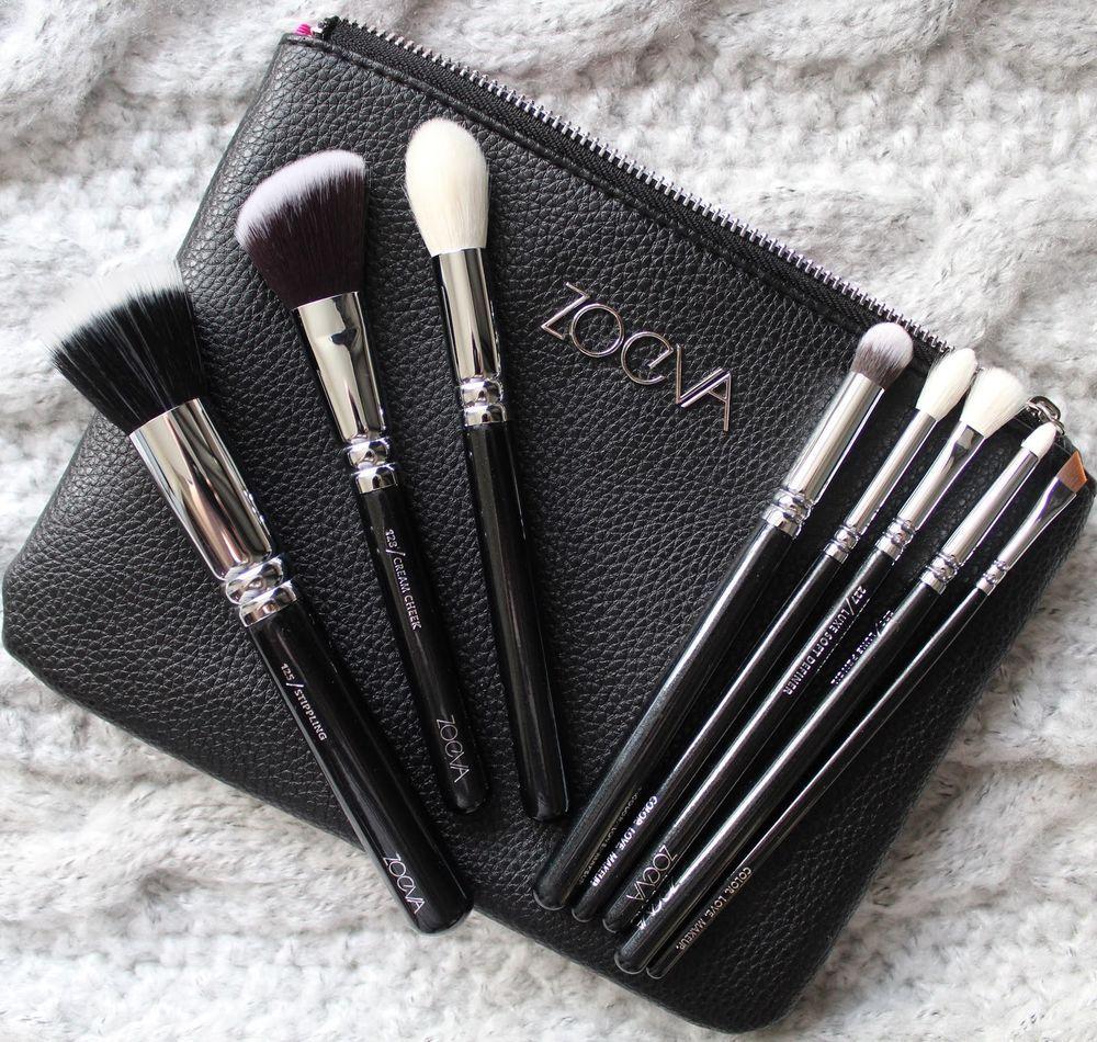 Zoeva Classic Brush Set 8 Brushes + Clutch New 100