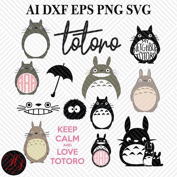 Download Totoro Svgtotoro Cliparttotoro Silhouetteanime SvgFiles ...