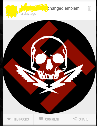 Can you get banned for stuff like this? Offensive crew emblems