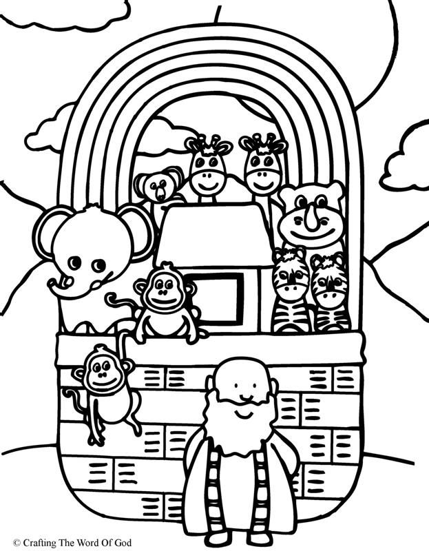 Noahs Ark (Coloring Page) Coloring pages are a great way