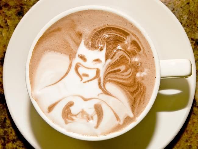 Batman - Latte art