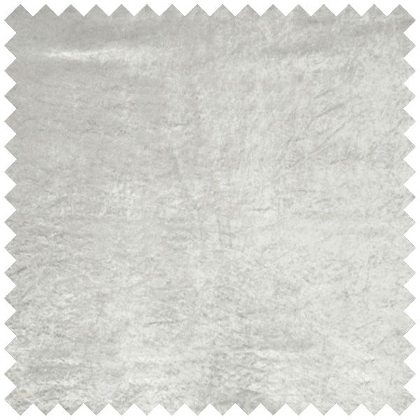 Heavy Crushed Bonded Velvet Curtain Fabric Light Silver