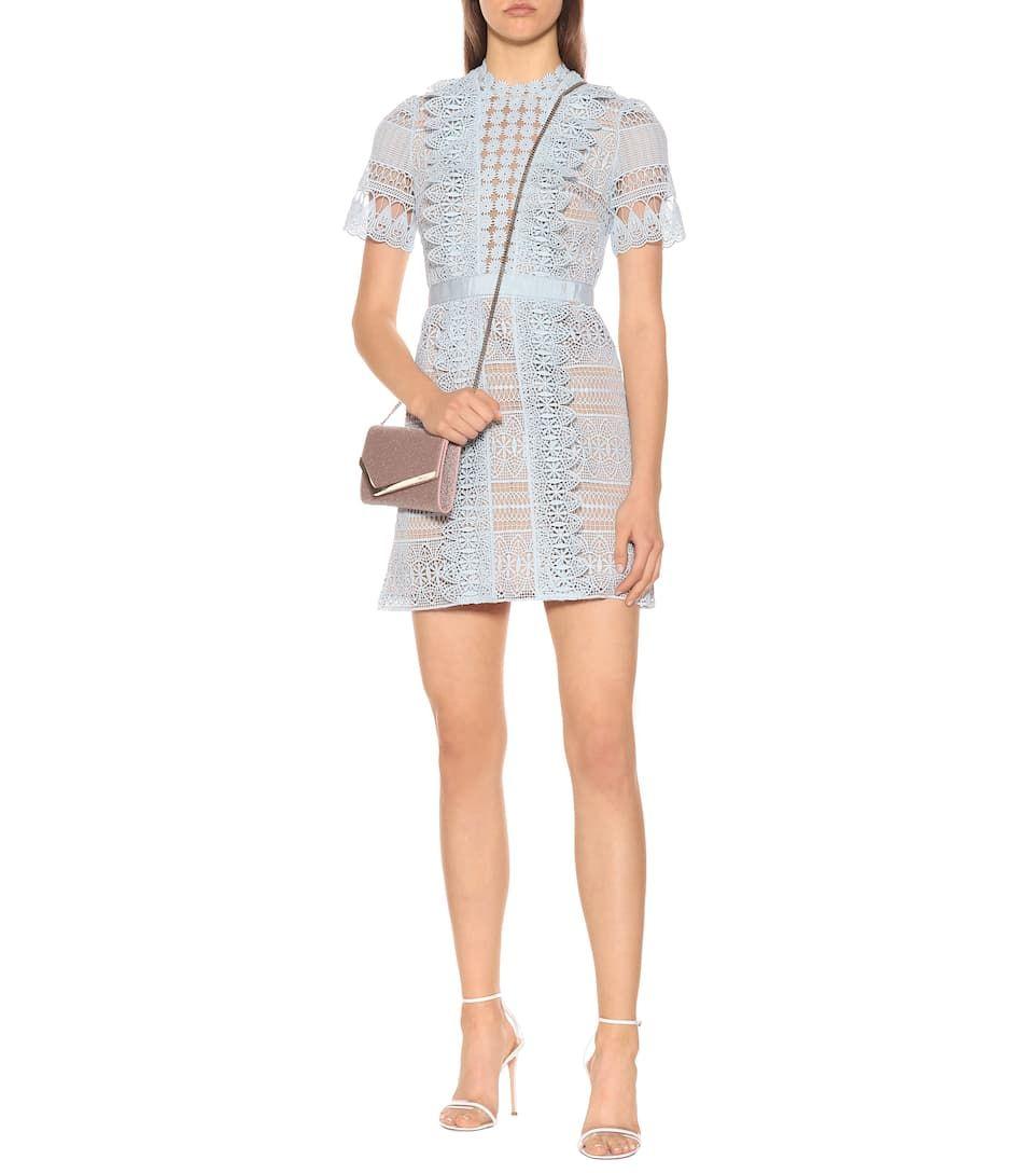14 NWT Authentic Self Portrait Off Shoulder Striped Floral Guipure Mini Dress
