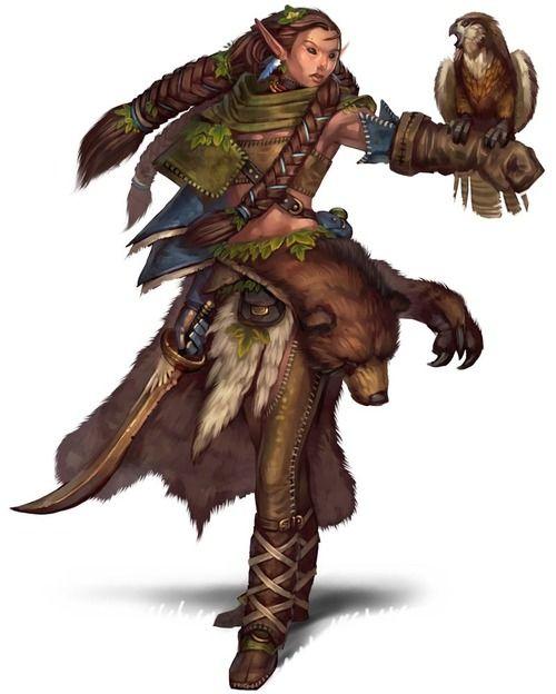 half elf pathfinder female nature warden pathfinder official art