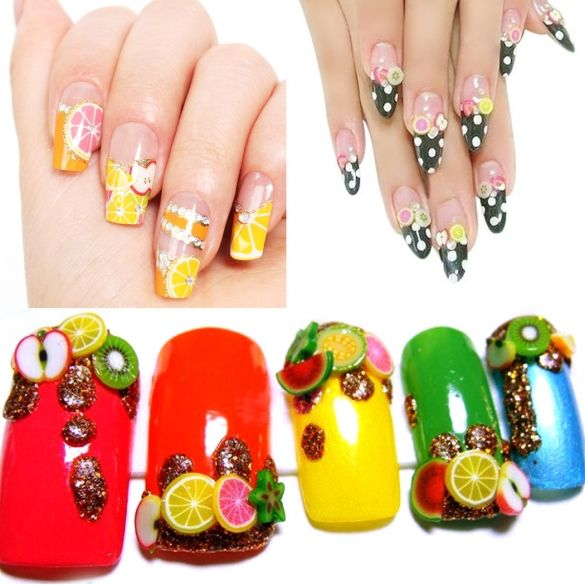 Fashion Beauty Zone: 1000 PCS/ Pack Nail Art Fruit/ Flower/ Animal Pattern