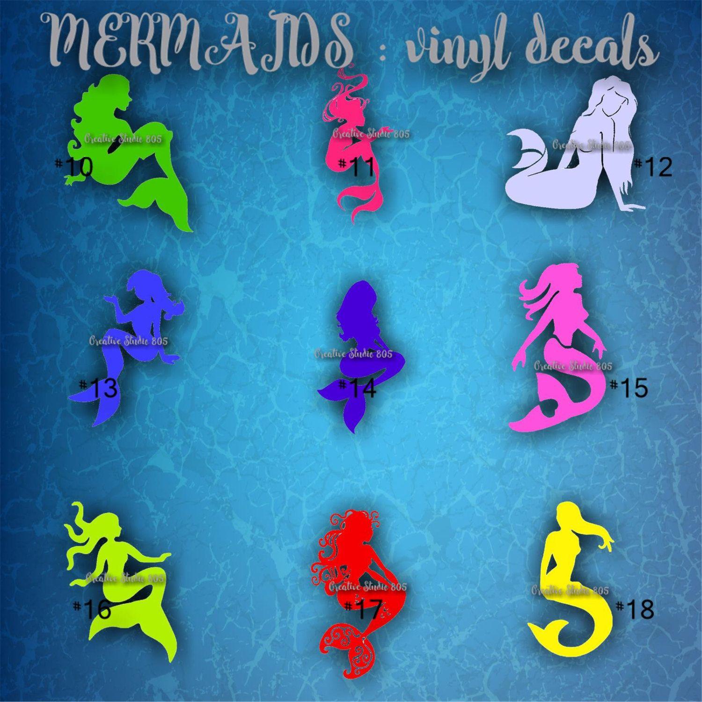 MERMAID Vinyl Decal Water Bottle Decal Car Decal Car - Mermaid custom vinyl decals for car