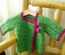 cute baby sweater - free pattern on Crochet Me