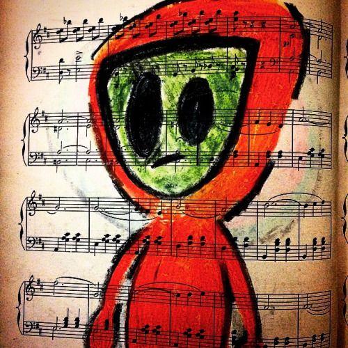 astronauta de otras tierras #ilustración #nimussis #draw #drawing #art #arte #partitura #waldteufel #crayon #crayola #crayons #doodle #coahuila #saltillo #chiapas #sancris #mex #mexico #ciudaddemexico #paris #francia #roma #italia #yasi #losmorros
