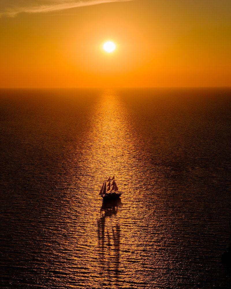Sailing into the sunset landskap himmel vatten