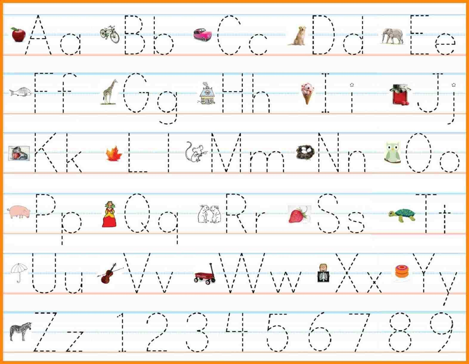 Letter Practise Worksheets In