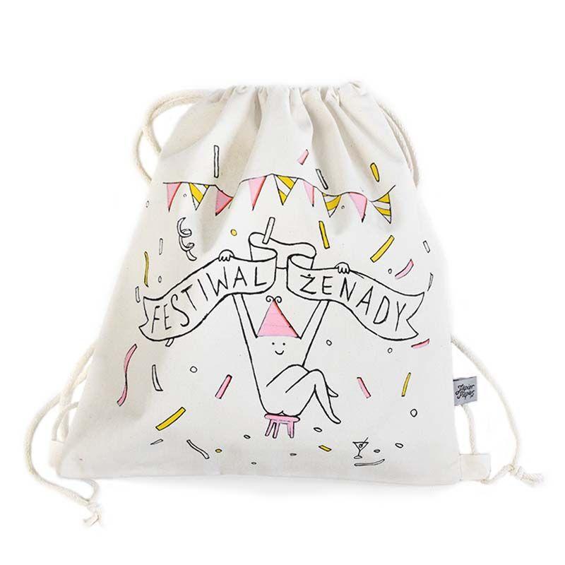 Jedyny Oficjalny Festiwal Ktory Trwa Caly Rok Worek Na Sznurkach Plecak Bawelniany Z Nadrukiem Ekologiczny Worek Na Plecy Bags Tote Bag Drawstring Backpack
