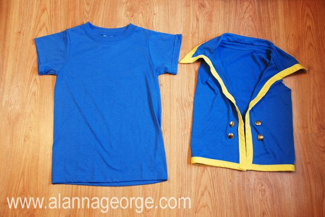 Lay your blue t-shirt out flat. & Lay your blue t-shirt out flat. | Halloween | Pinterest | Costumes ...