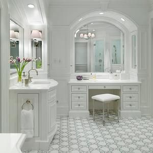 Jan Gleysteen Architects - bathrooms - chair, rail, wainscoting ...