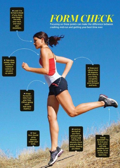 Proper running form Fitness Freak Pinterest Running form