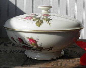 Rosenthal China Selb Germany | Vintage Rosenthal Moss Rose Bowl wi