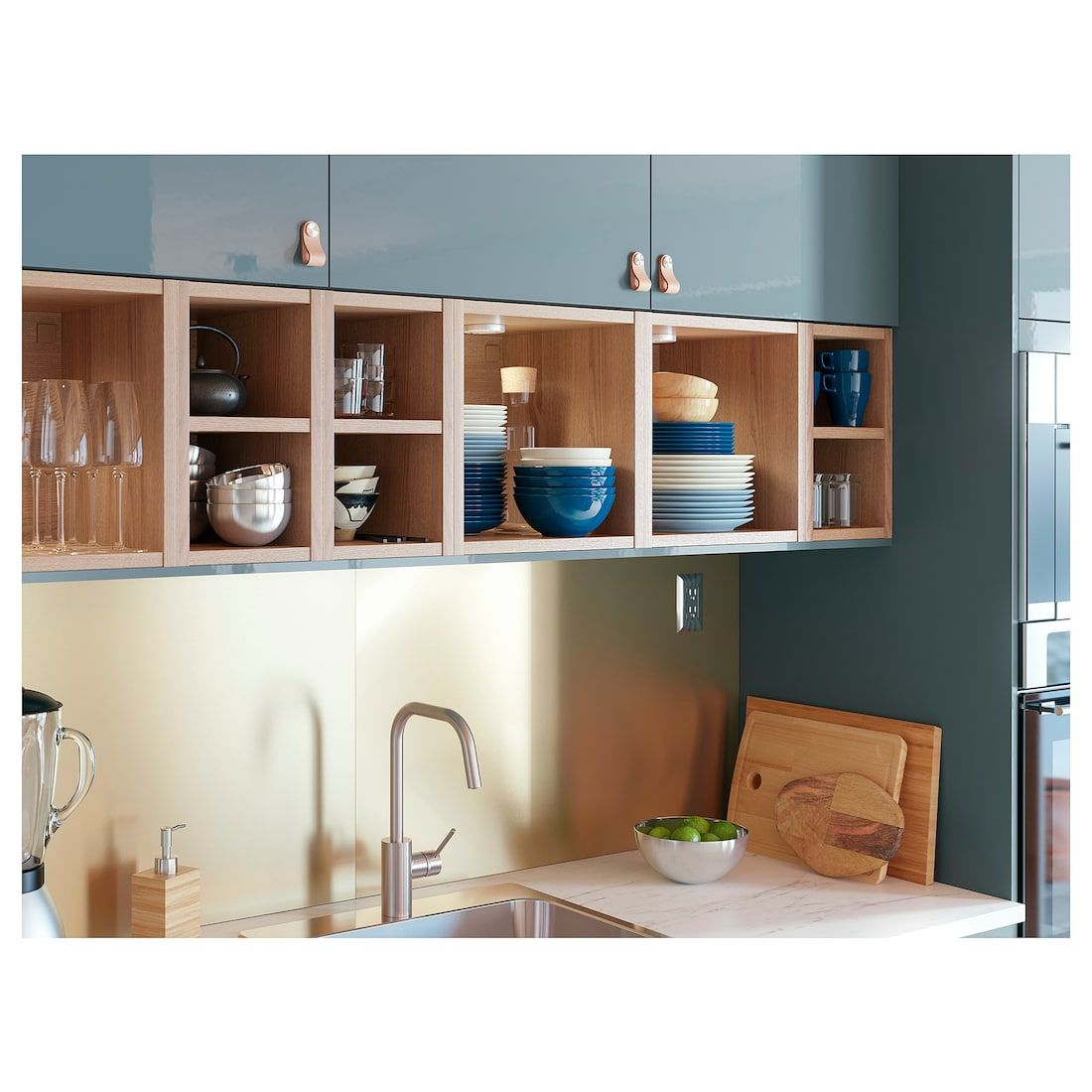 LYSEKIL Wall panel double sided brass color, stainless