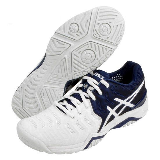 ASICS Gel Resolution 7 Novak Djokovic Men's Tennis Shoes Navy Racquet  E805N-5001