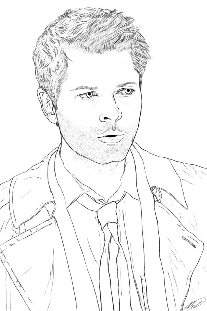 Supernatural Coloring Pages Coloring Pages Supernatural Drawings