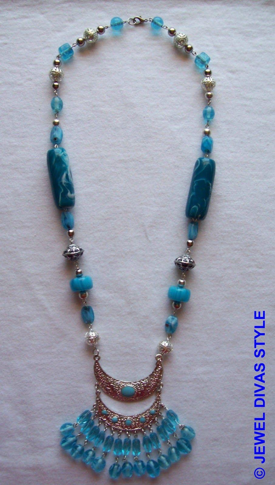 63b1f1d0a56c Jewel Divas Blue indian necklace