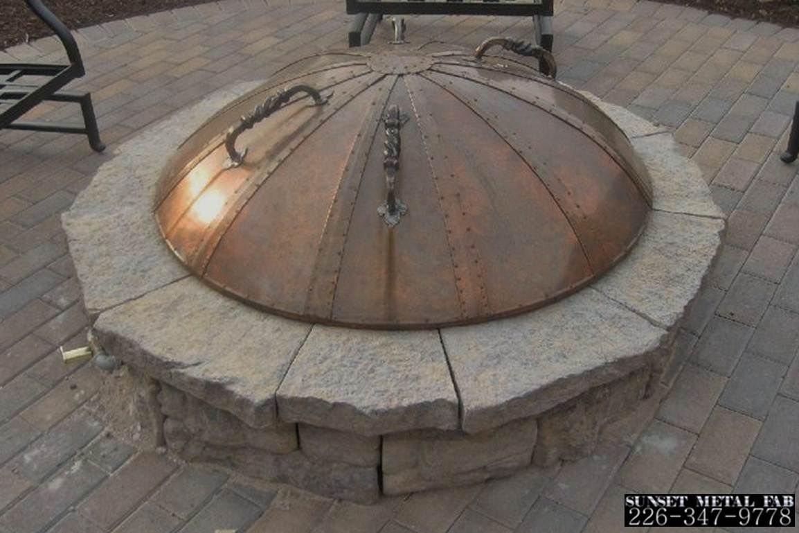 Fire Tables Pits Bowls Round Fire Pit Cover Custom Fire Pit