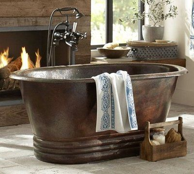 Hand Hammered Copper Bath Tub