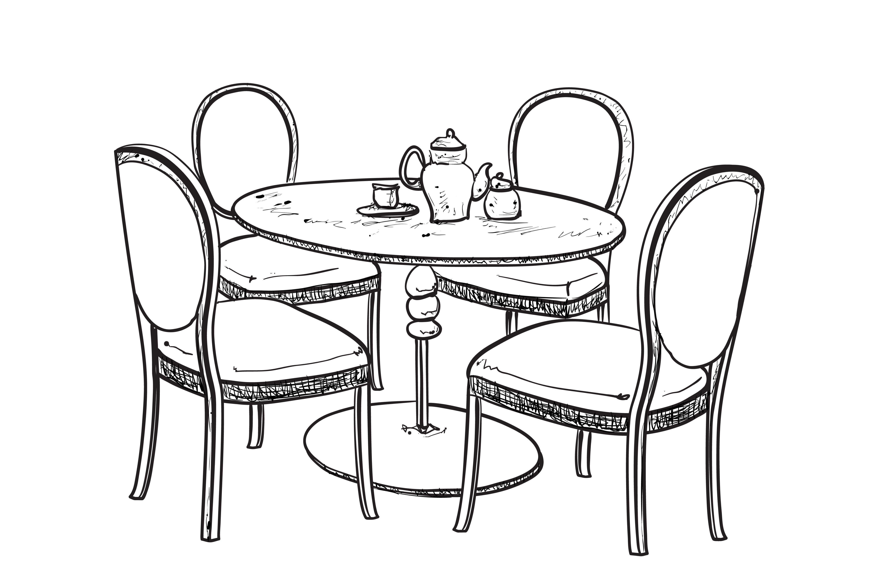 Dinner Table Furniture Sketch Furniture Sketch Dinner Tables Furniture Table Sketch