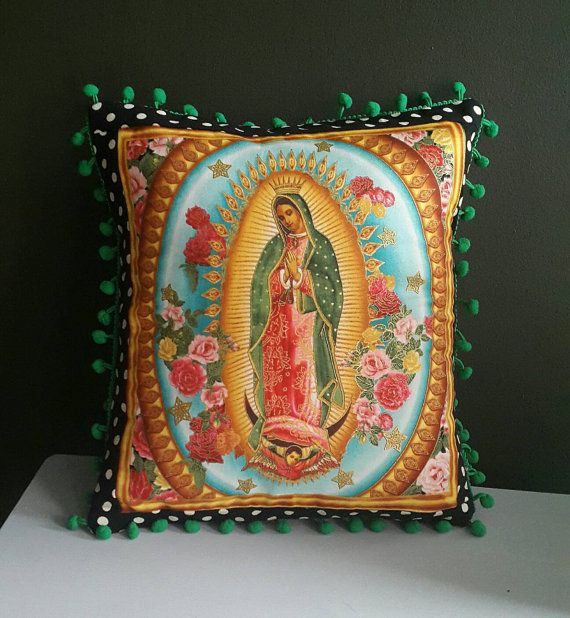Check out this item in my Etsy shop https://www.etsy.com/uk/listing/486854428/our-lady-of-guadalupe-cushion-decorative
