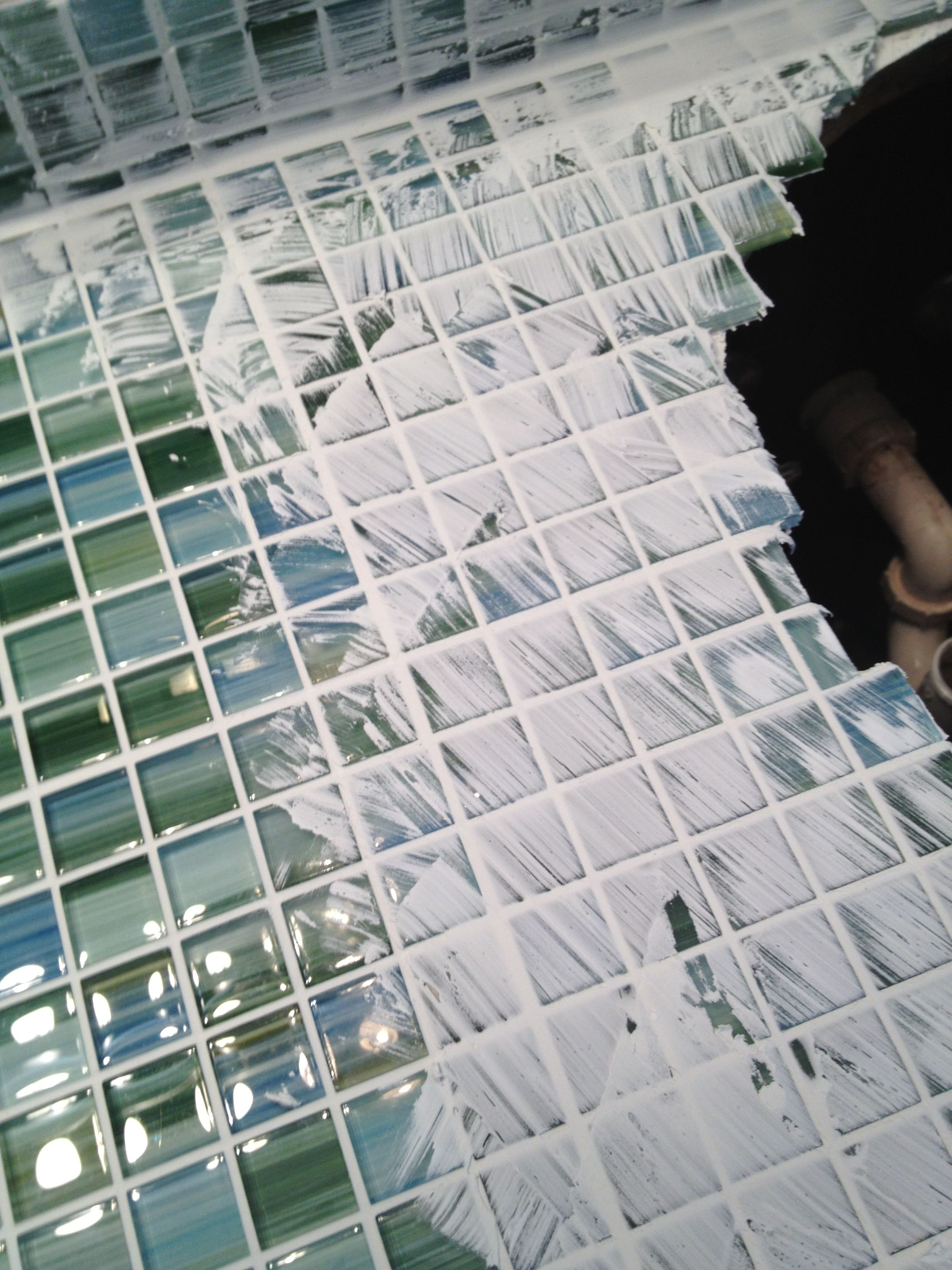Formica to fabulous tiling a glass mosaic countertop