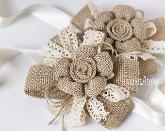 2 Sunflower Wedding Burlap Wrist Corsages, Rustic Wedding Bridesmaids Sunflower Bracelets, Flower Girl Accessories