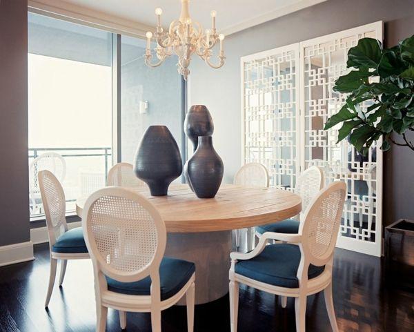 Esszimmerstühle Holz Runder Tisch