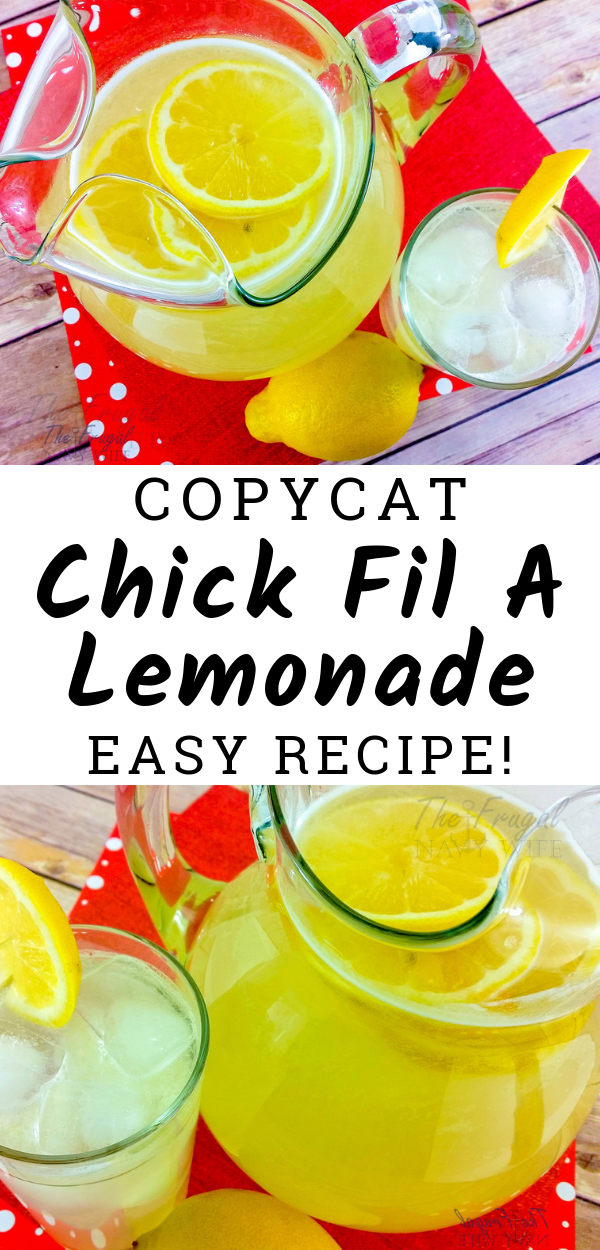 The BEST Copycat Chick Fil A Lemonade #easylemonaderecipe