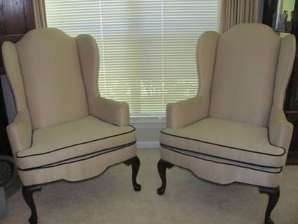 Ethan Allen Wingback Chairs Wedding Hire Brisbane 300 Two For Sale In Port Neches