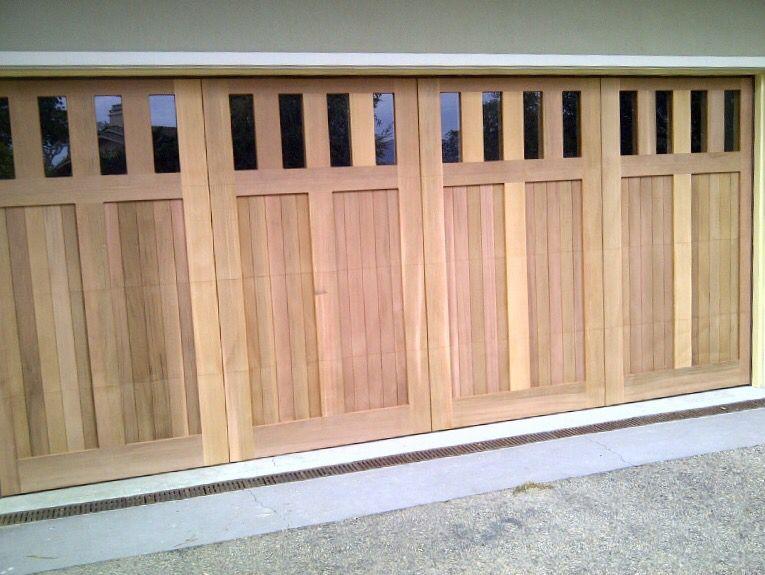 Custom Wood Garage Door With Windows Overhead Door Wood Garage