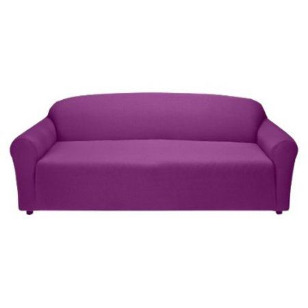 Phenomenal Madison Jersey Stretch Slipcover Sofa Purple Products Lamtechconsult Wood Chair Design Ideas Lamtechconsultcom