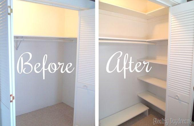 DIY Custom Closet Shelving Tutorial | Diy custom closet ...