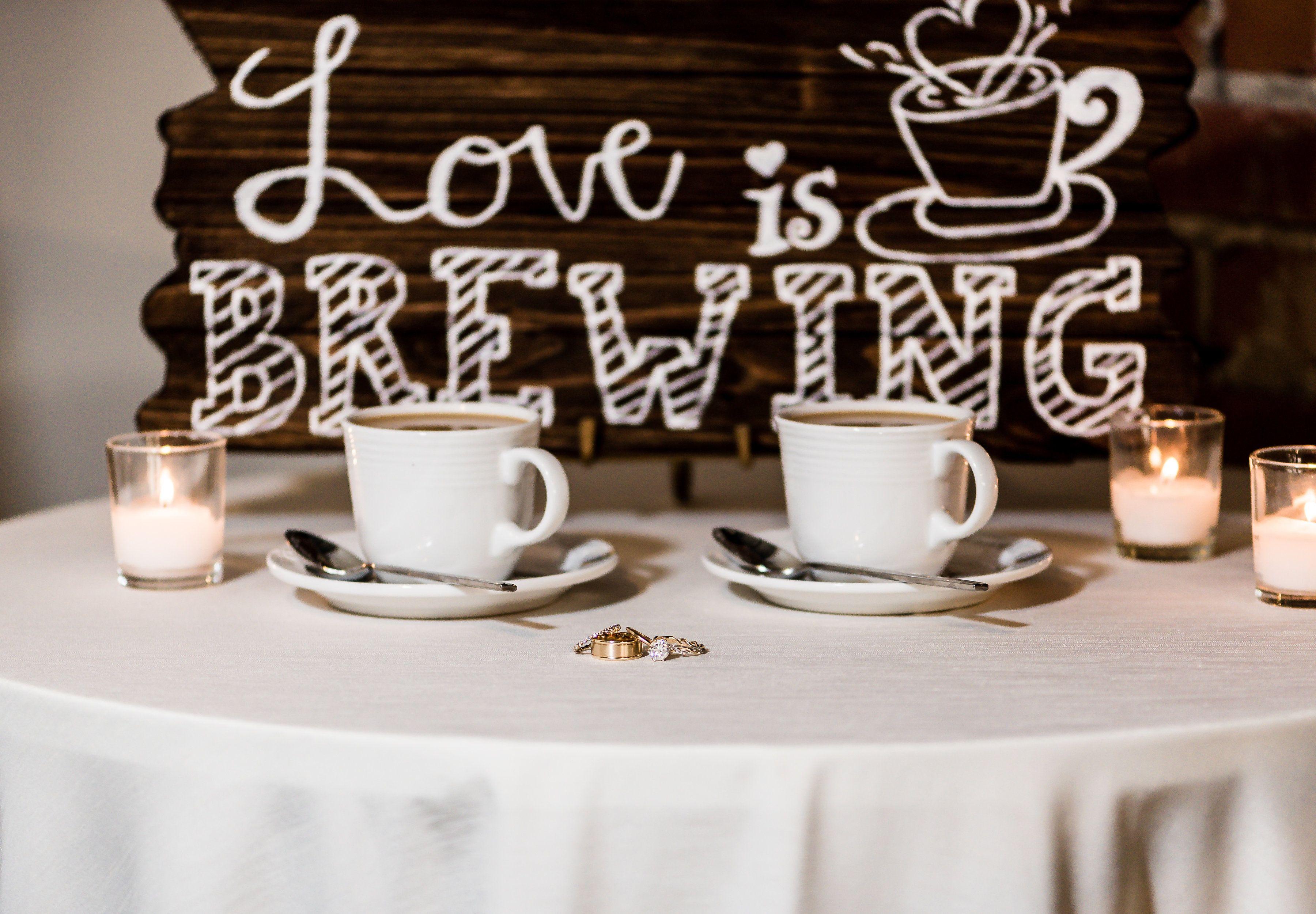 Romantic coffee wedding sign Photo Viktoriya Chuprov