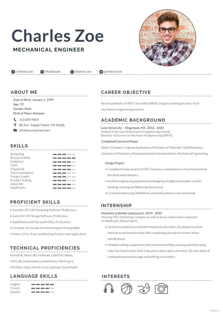 Mechanical engineer fresher resume Engineering resume