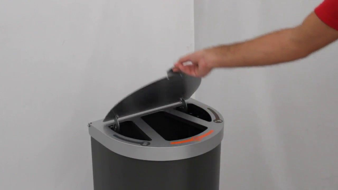 Adapt Multi Waste Stream Bin With Soft Close Lid     Unisanuk Com  Product