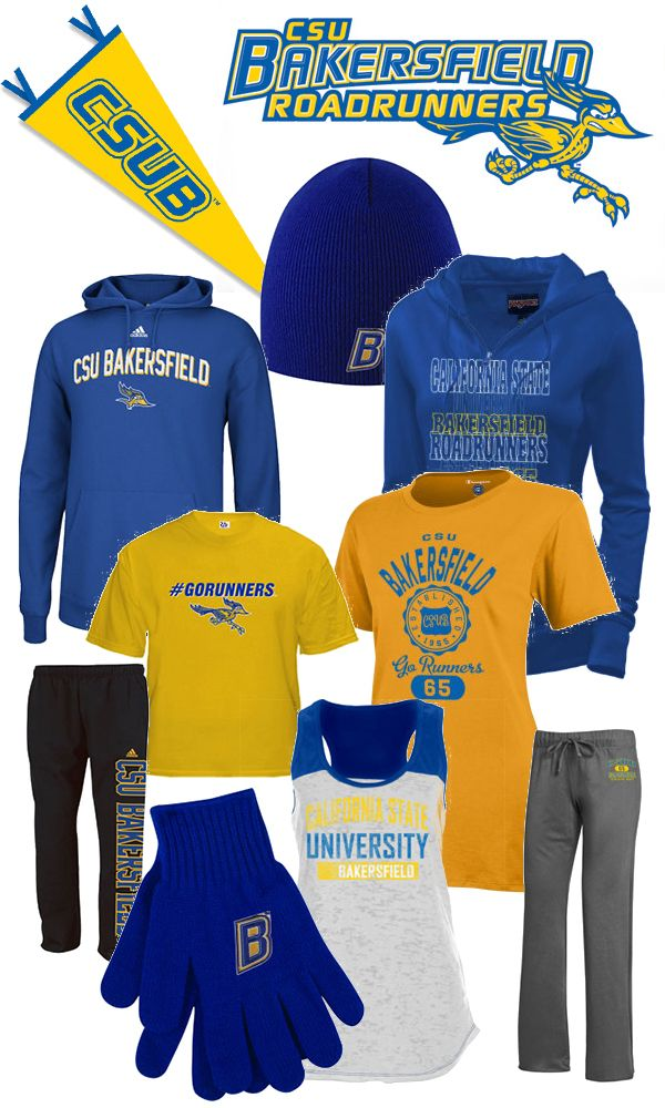 buy online bb194 1c74e Cal State Bakersfield. Get your Blue and Yellow Gear. Go ...