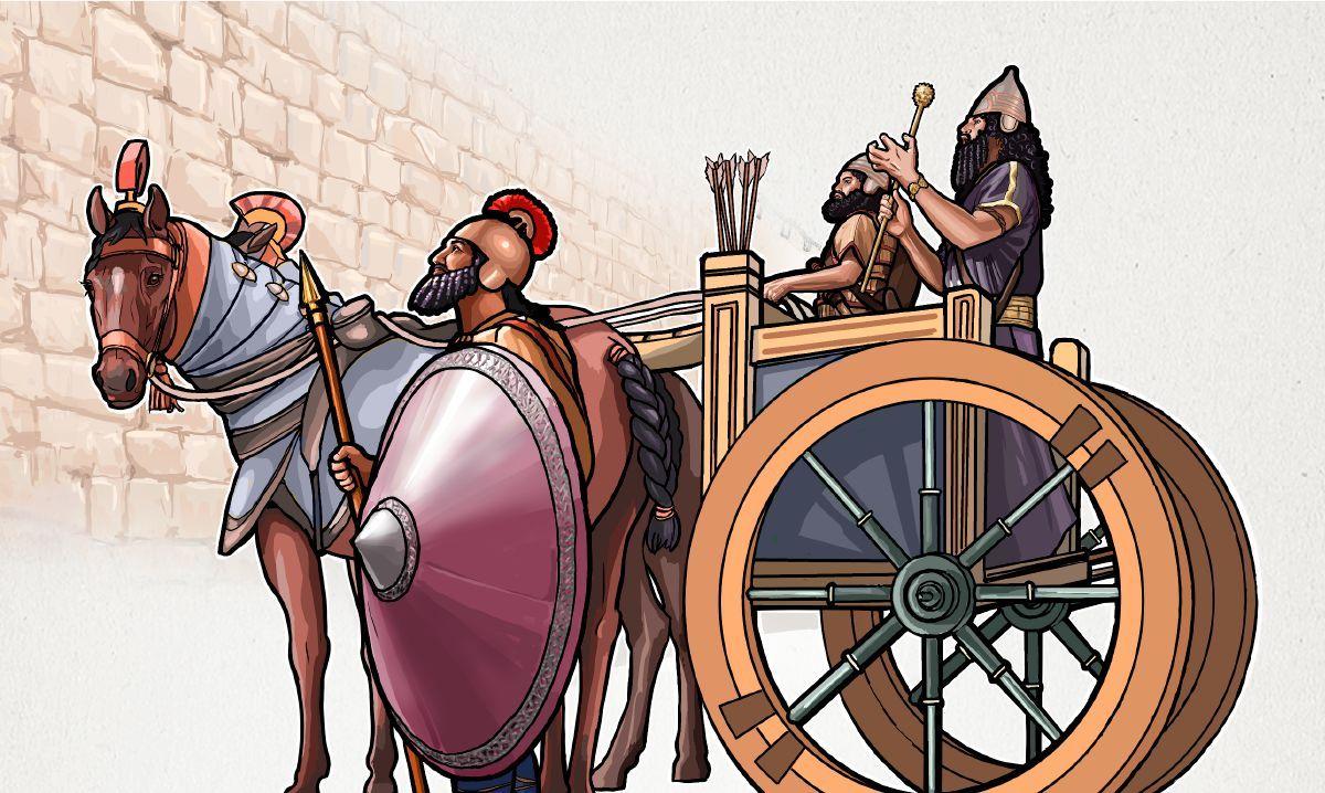 O Rabsaque E Seus Homens Do Lado De Fora Da Muralha De Jerusalem