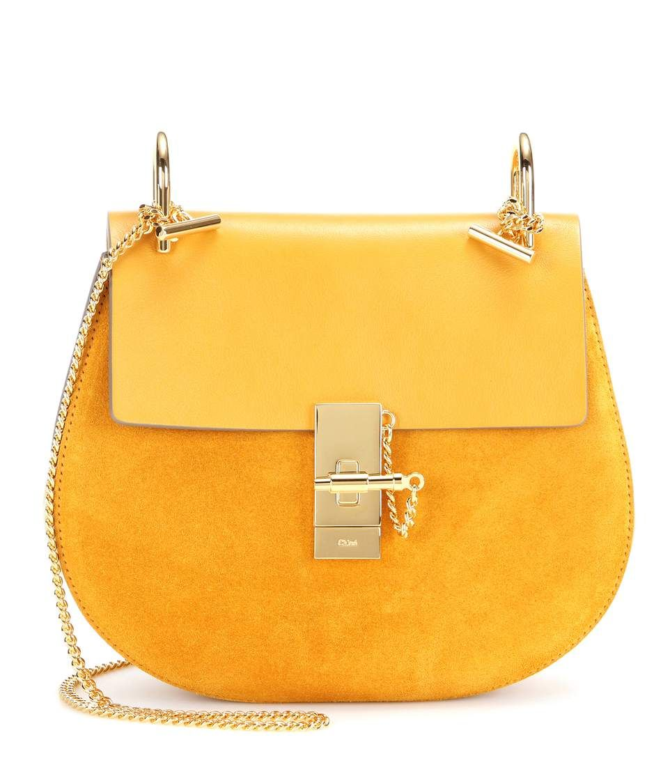 mytheresa.com - Drew leather and suede shoulder bag - Luxury Fashion for Women / Designer clothing, shoes, bags
