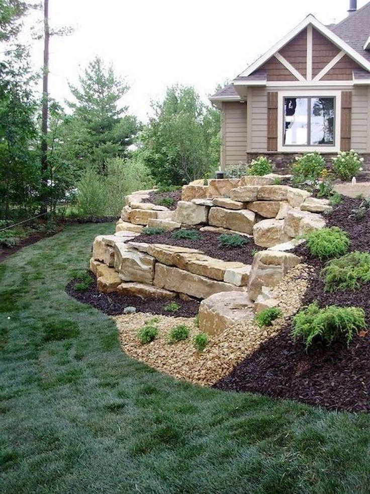 COLORFUL 65 FOREMOST YARD WITH ROCK MAKEOVER IDEAS,  #Garden #gardendesign #gardenideas