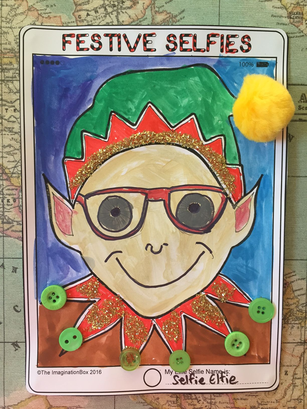 Christmas Coloring Pages  Fun Festive Selfies Art Project For