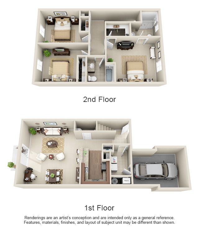 1, 2 & 3 Bedroom Apartment Homes For Rent